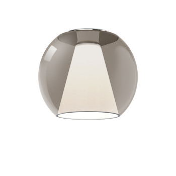 Serien Lighting Draft Ceiling M, Glas braun, 3000K
