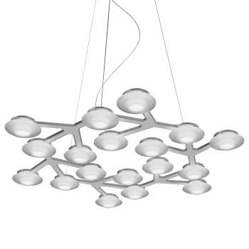 Artemide LED Net Circle Suspension, weiß glänzend, kompatibel mit Artemide App