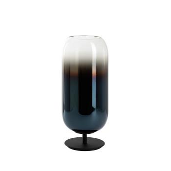 Artemide Gople Mini Table, Struktur schwarz, Diffusor saphirblau