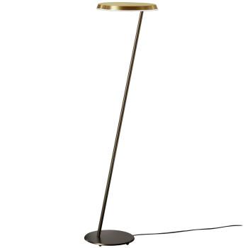 Oluce Amanita 619 Stehleuchte, Struktur bronze eloxiert / Reflektor gold satiniert