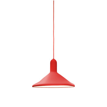 Established & Sons Torch Light S3 Cone, red / red cable
