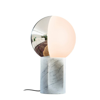 Penta Je Suis Table Lamp, white carrara marble
