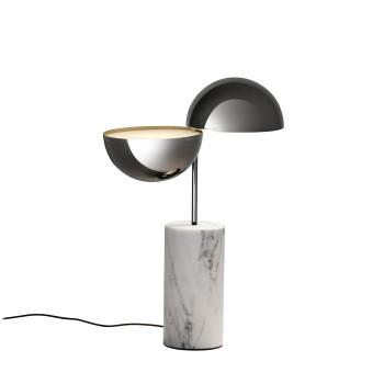 Penta Elisabeth Large Table Lamp, white carrara marble