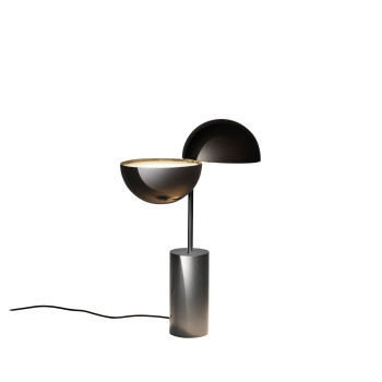 Penta Elisabeth Small Table Lamp, glossy black chrome
