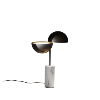 Penta Elisabeth Small Table Lamp, white carrara marble