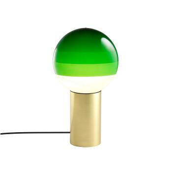 Marset Dipping Light S, Messing gebürstet / grün