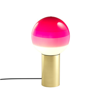 Marset Dipping Light S, Messing gebürstet / pink