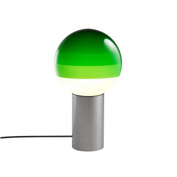 Marset Dipping Light S, graphitgrau / grün