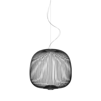 Foscarini Spokes 2 Midi Sospensione My Light LED, schwarz