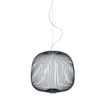 Foscarini Spokes 2 Midi Sospensione My Light LED, graphitgrau
