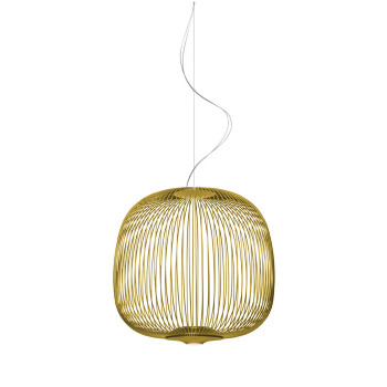 Foscarini Spokes 2 Midi Sospensione My Light LED, gold