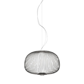 Foscarini Spokes 3 Sospensione MyLight, graphitgrau