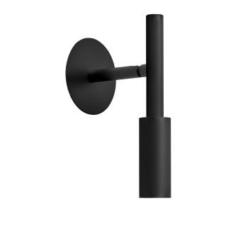 Panzeri Tubino Wand-/Deckenleuchte, schwarz matt