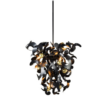 Brand van Egmond Kelp Cone 60 Kronleuchter, schwarz matt