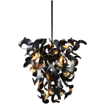 Brand van Egmond Kelp Cone 80 Kronleuchter, schwarz matt