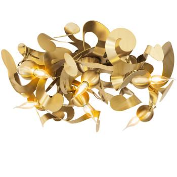 Brand van Egmond Kelp Round Deckenleuchte, Messing geschliffen