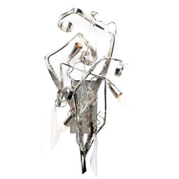 Brand van Egmond Delphinium Wandleuchte, Nickel