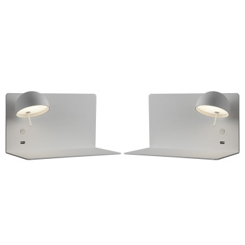 Bover Beddy A/03 LED, 2er Pack: 1 x Schirm links + 1 x rechts