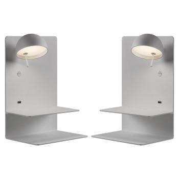 Bover Beddy A/04 LED, 2er Pack: 1 x Schirm links + 1 x Schirm rechts