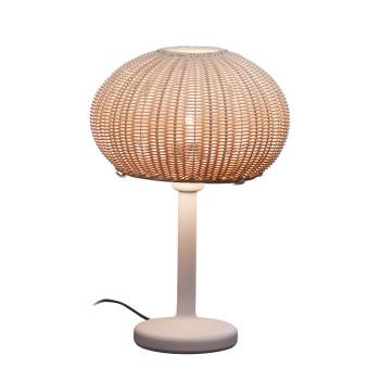 Bover Garota M/36 Outdoor LED, Struktur weiß / Schirm elfenbeinfarben