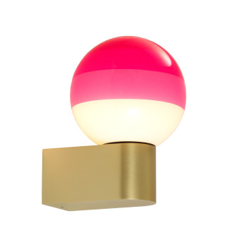 Marset Dipping Light A1-13, Messing gebürstet / pink