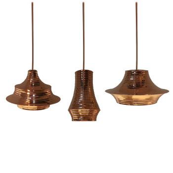 Bover Tibeta Set 3, Kupfer glänzend / kupferfarbenes Metallkabel
