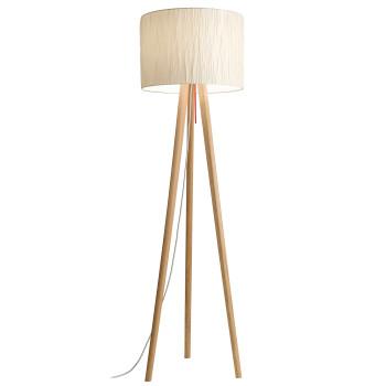 Domus Sten Crash Floor Lamp, white oak / Crash Alabaster