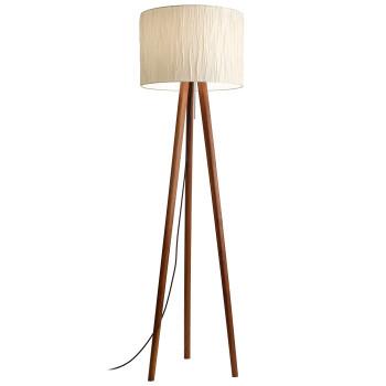 Domus Sten Crash Floor Lamp, walnut / Crash Alabaster
