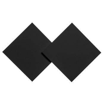 Studio Italia Design Puzzle Double Square Wand-/Deckenleuchte, schwarz matt, 2.700K