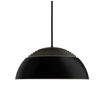 Louis Poulsen AJ Royal 370 LED, noir, 2700K, dimmable à coupure de phase
