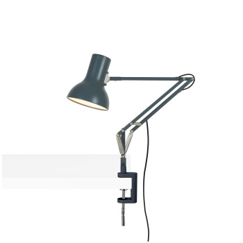 Anglepoise Type 75 Mini Lamp with Desk Clamp, schiefergrau