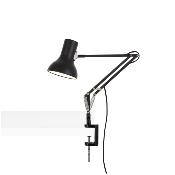 Anglepoise Type 75 Mini Lamp with Desk Clamp, schwarz