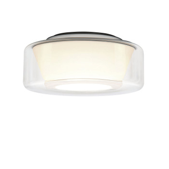 Serien Lighting Curling Ceiling M LED, 2700K, Glasschirm klar, Reflektor konisch opal / dimmbar TRIAC