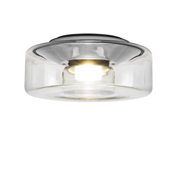 Serien Lighting Curling Ceiling M LED, 2700K, Glasschirm klar / dimmbar TRIAC