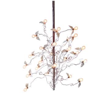 Ingo Maurer Birds Birds Birds LED, Standardlänge 190 cm, Kabel rot/blau