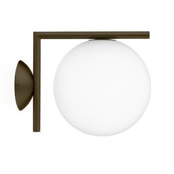 Flos IC Lights C/W1 Outdoor, dunkelbraun
