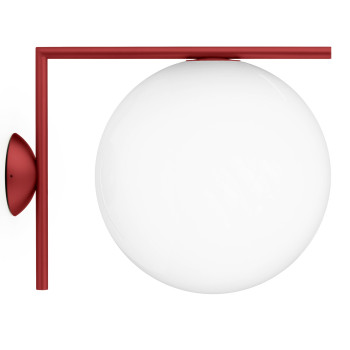 Flos IC Lights C/W2 Outdoor, burgunderrot