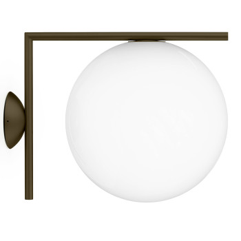 Flos IC Lights C/W2 Outdoor, dunkelbraun
