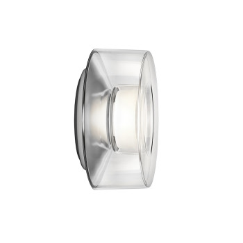 Serien Lighting Curling Wall M, Acrylglas klar, 3000K