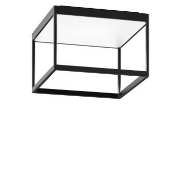 Serien Lighting Reflex² Ceiling M 200, Gehäuse schwarz, Glas strukturiert weiß