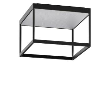 Serien Lighting Reflex² Ceiling M 200, Gehäuse schwarz, Glas strukturiert silber