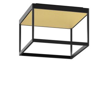 Serien Lighting Reflex² Ceiling M 200, Gehäuse schwarz, Glas strukturiert hellgold