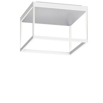 Serien Lighting Reflex² Ceiling M 200, Gehäuse weiß, Glas strukturiert silber