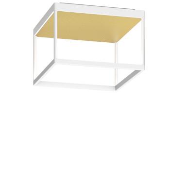 Serien Lighting Reflex² Ceiling M 200, Gehäuse weiß, Glas strukturiert hellgold