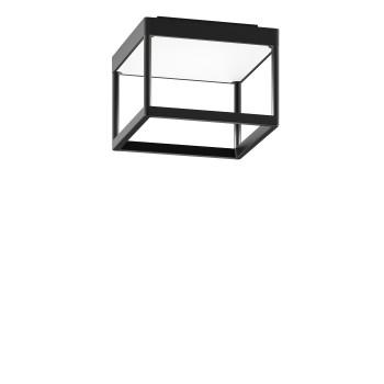 Serien Lighting Reflex² Ceiling S 150, Gehäuse schwarz, Glas strukturiert weiß
