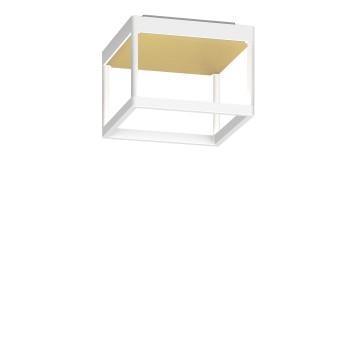 Serien Lighting Reflex² Ceiling S 150, Gehäuse weiß, Glas strukturiert hellgold