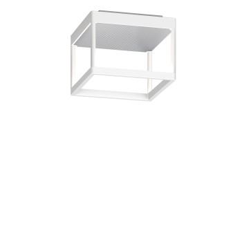 Serien Lighting Reflex² Ceiling S 150, Gehäuse weiß, Glas strukturiert silber