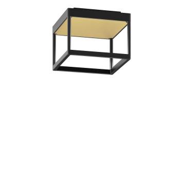 Serien Lighting Reflex² Ceiling S 150, Gehäuse schwarz, Glas strukturiert hellgold