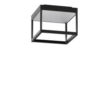Serien Lighting Reflex² Ceiling S 150, Gehäuse schwarz, Glas strukturiert silber