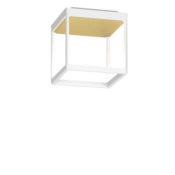 Serien Lighting Reflex² Ceiling S 200, Gehäuse weiß, Glas strukturiert hellgold